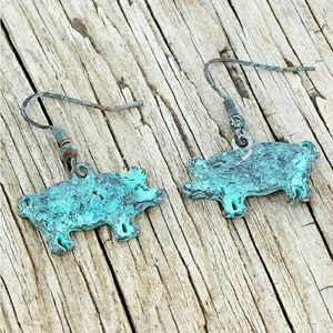 Jewelry - 2 for $20~Patina ~ Piggy Earrings